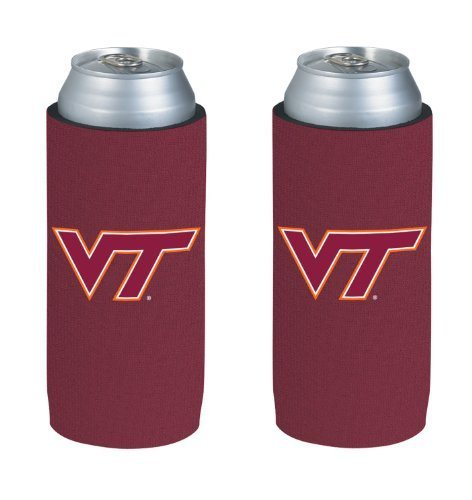 ncaa-2013-college-ultra-slim-beer-can-holder-koozie-2-pack-virginia-tech-hokies