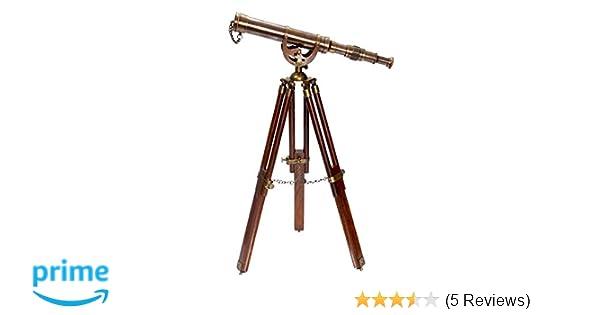 Amazon a vintage antique tripod telescope brass nautical