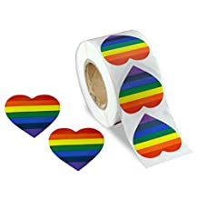 Rainbow Heart Stickers (500 Stickers) by Fundraising For A Cause