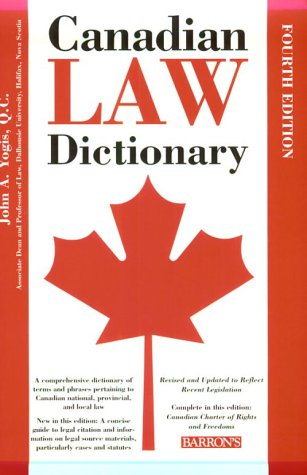 Canadian Law Dictionary