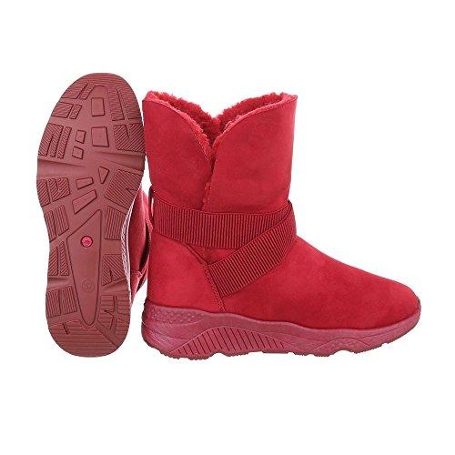 de planas clásicas rojas Design Botas mujer Botas Ital fqHwdT8