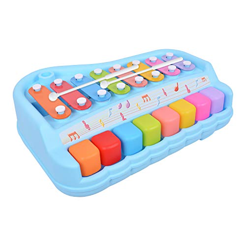 BUDDYFUN 2 in 1 Xylophone Educational Musical Toy for Kids, Bright Colorful Piano Keys, Musical Instrument for Babies, Toddlers and Preschoolers