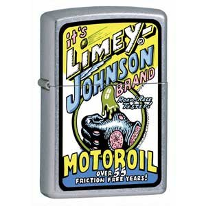 Street Chrome, Limey Johnson Motor Oil (ZI21011) Category: Urban Style Zippo Lighters
