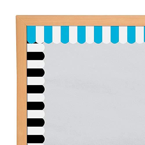 Fun Express - Awning Bb Border - Educational - Classroom Decorations - Bulletin Board Decor - 12 Pieces