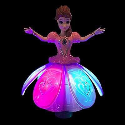 Walks Kids of All Ages Toy Features Amazing Music Dances and Emits Awesome Light /& Sound Spins LilPals Beautiful Dancing Princess Angel Doll