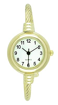 Moulin Women's Slim Silver Cable Bangle Watch Gold-Tone #9090.69437