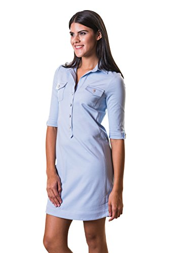 Kleid Hellblau Elegant Nachhaltig byMi Modisch Baumwolle in produziert aus Charly amp; Sommerkleid Europa Hamburg Cool Elegantes wYZqa48Yx