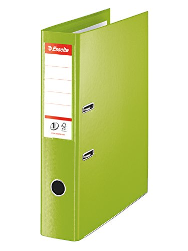 Esselte 75 mm No.1 Power Foolscap Spine Lever Arch File - Green, Pack of 10