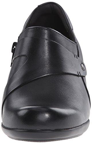 Clarks Flat Black Frolic Leather Genette xxqC1apwP