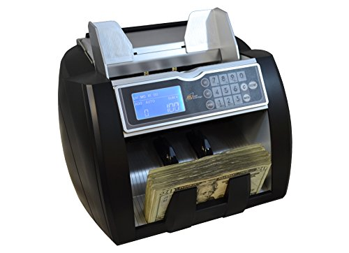 Royal Sovereign Money Counting Machine, High Speed Bill Counter, UV, MG, IR Counterfeit Bill Detector, Front Load, Variable Speed (RBC-5000)