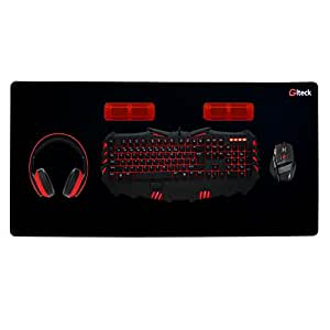 """GLTECK XXL Large Mouse Pad, Extended Mousepad, 36""""x16.5"""" Non-Slip Rubber Big Mouse Pad, Stitched Edges with Carrying Bag(XXXL)"""