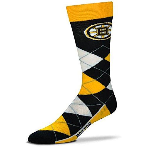 For Bare Feet Nhl Boston Bruins 505 7 Argyle Crew Socks   Large
