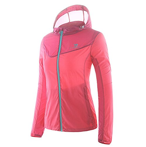 Camel Women's Lightweight Windbreaker Waterproof Skin Coat Color Red Size S by Camel