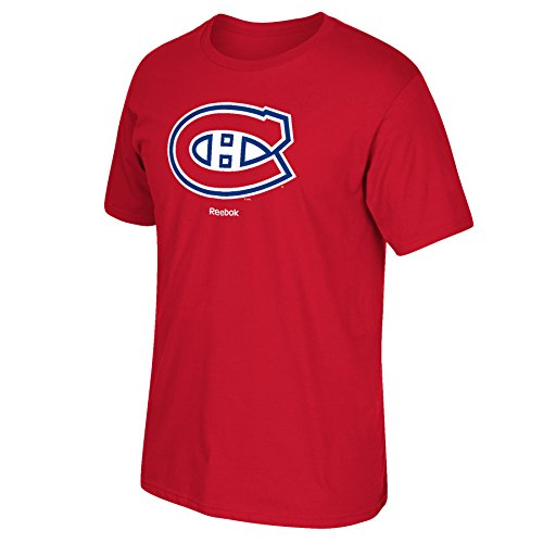 NHL Montreal Canadiens Primary Logo T-Shirt, XX-Large, Red (Montreal Hockey Nhl)