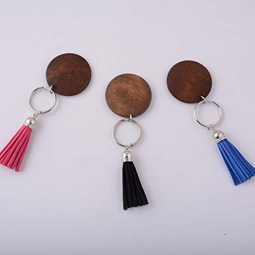 Llavero en madera y borla: Amazon.es: Handmade