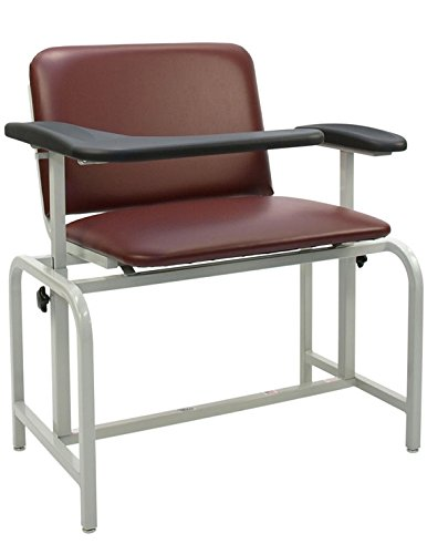 (Winco 2575 Padded XL Vinyl Phlebotomy Blood Drawing Clinical Chair)