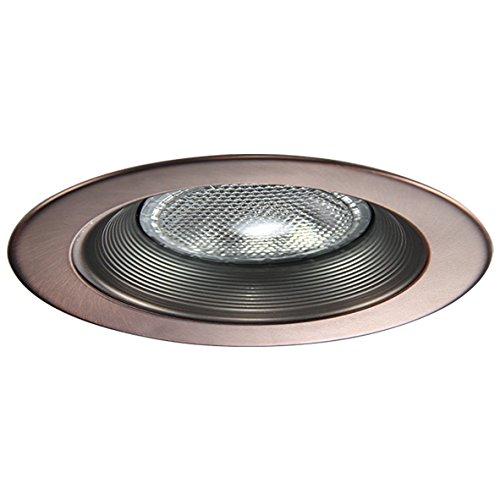 Bronze Baffle - Eco Lighting NY HV6001AB/AB 6-Inch Line Voltage Trim Recessed Light fit Halo/Juno, Step Baffle Trim, Baffle: Antique Bronze, Ring: Antique Bronze