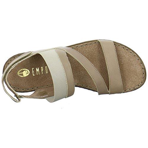 Empor 3102098tortora - Sandalias de vestir de Piel para mujer Beige