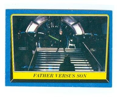 Father versus Son trading card Star Wars Return of the Jedi 1983 Topps #200 Jedi Luke Skywalker fights Darth Vader for $<!---->