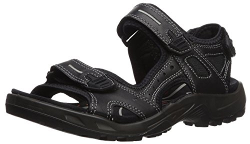 ECCO Men's Yucatan outdoor offroad hiking sandal, Black Lux Leather, 40 EU (US Men's 6-6.5 M)