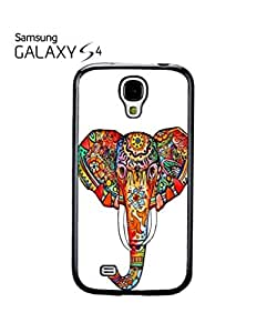Elephant Ethnic Drawing Colourful Girl Mobile Cell Phone Case Samsung Galaxy S4 Black