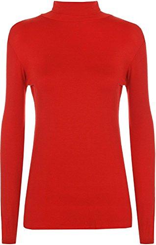 AHR_Manchester_UK - Camiseta de manga larga - Básico - cuello de polo - para mujer Rosso