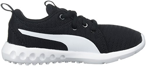Unisex-Kids Carson 2 Sneaker, Puma Black-Puma White, 11 M US Little Kid