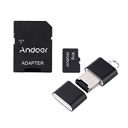 Andoer® 8GB Class 10 Memory Card TF Card + Adapter + Card Reader USB Flash Drive with plastic box for Camera Car Camera Cell Phone Table PC GPS (Usb Flash Drive Class 10)