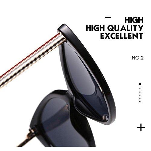 UV400 mujer de y hombre para con sol para de Aolvo bolsa Cateye gafas espejo de montura de Gafas de tamaño gafas de lentes de Pink Lens Pink Frame amp; vintage gran polarizadas sol metal niñas Crystal multicolor Crystal Taw sol wZxAqT68Y0