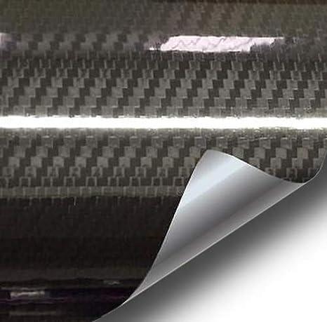 3ft x 5ft XPO Black High Gloss Carbon Fibre Tech Art 3D Cast Vinyl DIY Wrap