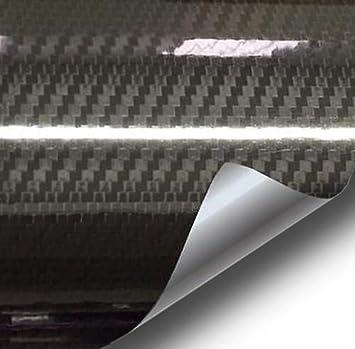 2.5ft x 5ft VVIVID Epoxy High Gloss Black Carbon Vinyl Automotive Wrap Film DIY Interior Easy to Install No Mess