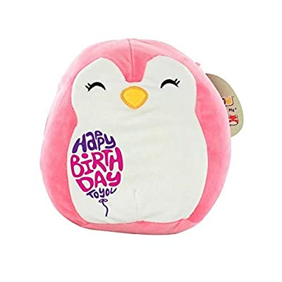 """Limited Edition! Happy Birthday Squishmallow Pre-Customized for Birthday Original Kellytoy Plush Stuffed Animal Pillow,Birthday Gifts,Ideas (Pink Penguin, 8""""): Home & Kitchen"""