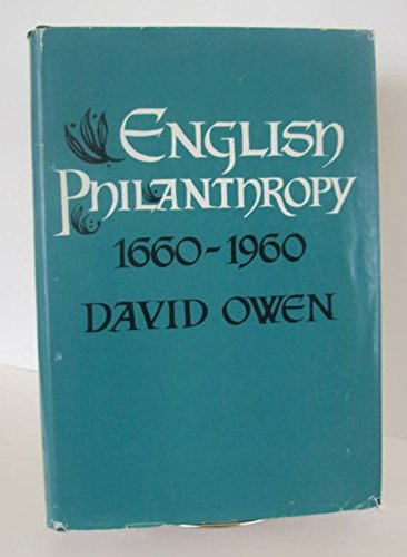English Philanthropy, 1660-1960