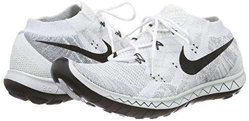 low priced 36b35 bfa3a nike free 3.0 flyknit running trainers 718420 sneakers shoes (US 9 , white  black pure