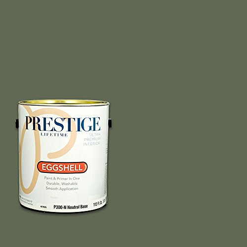 Prestige, Greens and Aquas 5 of 9, Interior Paint and Primer In One, 1-Gallon, Eggshell, Asparagus Stalk