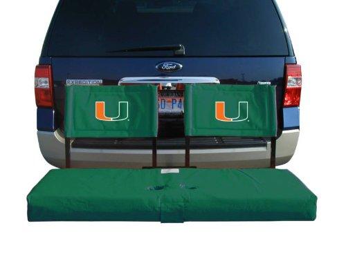 Rivalry NCAA Miami Hurricanes Tailgate Hitch Seat Cover Hurricane Sunbrella