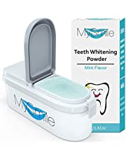 MySmile Tooth Powder for Teeth Whitening, Non-Sensitive Natural Toothpaste Powder Teeth Whitener to Remover Stains from Coffee, Smoking, Soda, Wine for Teeth Whitening Powder Alternative to Toothpaste Mint Flavor