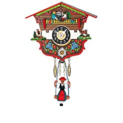 Miniature Quartz Swinging Doll Clock with Seesaw, 5 Inch