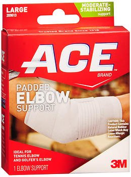 Ace Padded Elbow Support Large - 1 each, Pack of 5 by ACE