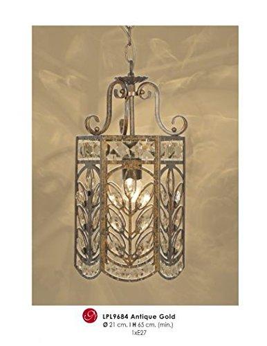 Techo con diseño oriental y cristal de Deco antiguo oro ...