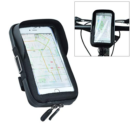 ELCYCO Bike Handlebar Phone Mount Holder Waterproof with Touch Screen Bicycle Frame Handlebar Bags Install Easily with Velcro Strap