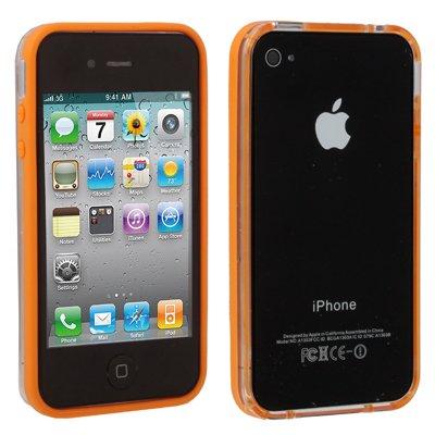 "Original THESMARTGUARD iPhone 4S / 4 Bumper im ""Transparo-Style"" - orange"