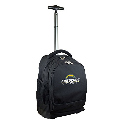 NFL Los Angeles Chargers Expedition Wheeled Backpack, 19-inches, Black by Denco