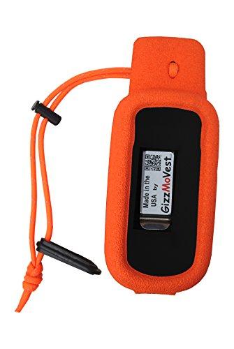 Orange Gizzmo Vest for Garmin Alpha 100 Handheld - Made in the USA