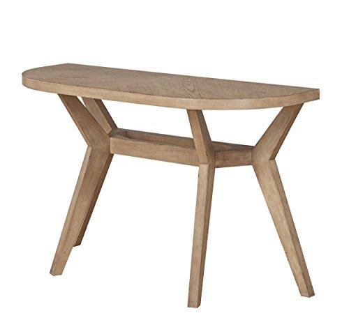 Homelegance Liatris 48 x 18 Half-Circle Sofa Table, Brown