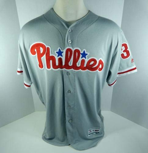 9cf793383 2018 Philadelphia Phillies Jim Gott  35 Game Used Grey Jersey - Game Used  MLB Jerseys at Amazon s Sports Collectibles Store