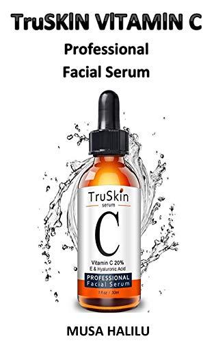 TruSKlN VlTAMlN C PROFESlONAL FAClAL SERUM: TruSkin Naturals Vitamin C Serum for Face, Topical Facial Serum with Hyaluronic Acid and Vitamin E, 1 fl oz.