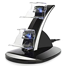 Dual USB Charging Station, Joso LED light Fast Two Charging Charge Dock Stand with USB Charge Cable for Microsoft Xbox One/ Xbox one S/ Xbox Elite Gaming Controllers