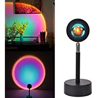 Sunset Lamp 90 Degree Rotate Rainbow Floor Lamp & Sunset Projection Lamp for Romantic Decor, Rainbow Projection Lamp for…