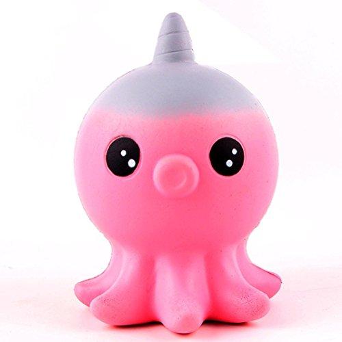 Juguetes Squishy, Magiyard Colección de juguetes Squeeze Scentsed Squishy Slow Rising Unicorn Octopus Scented (Azul) Rosa